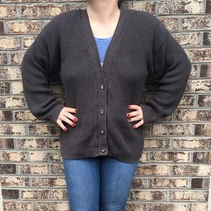 Vintage Calvin Klein Puffy Sleeve Cardigan Sweater